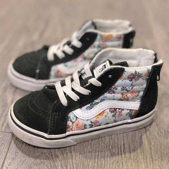 Vans C8.5 kids Sk8-Hi floral shoes